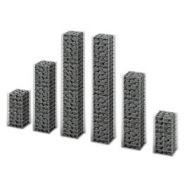 Set 6 gabioane din sarma galvanizata marimi diferite