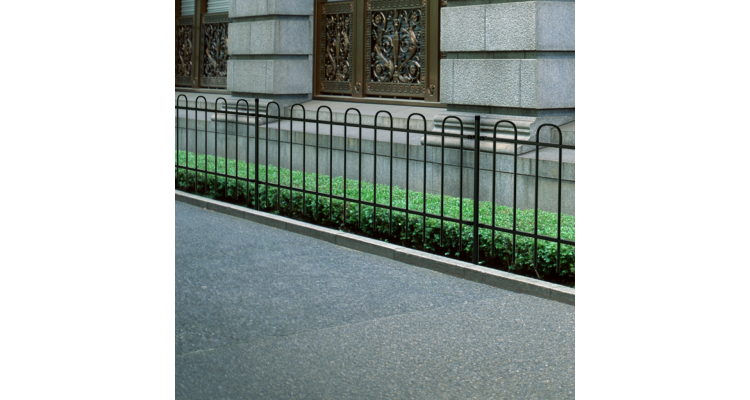 Poza Gard Metalic Decorativ Inele Otel Negru