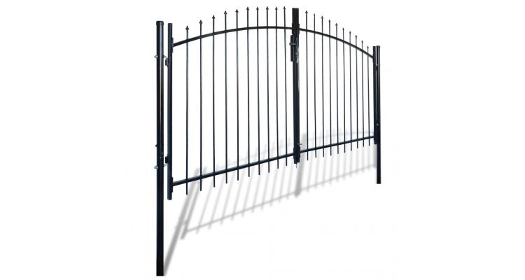 Porti Duble Varfuri Ascutite Porti Garduri Ilustratie