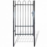 Poarta metalica pentru gradina cu varfuri arcuite 100 x 198 cm
