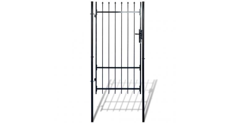 Poarta Metalica Gradina Varfuri Ascutite Porti Garduri Ilustratie