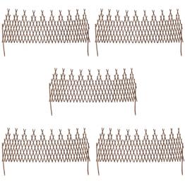 Set de 5 garduri extensibile de salcie cu zabrele 170 x 55 cm
