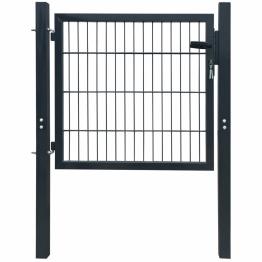 Poarta 2D pentru gard (simpla) 106 x 130 cm, gri antracit