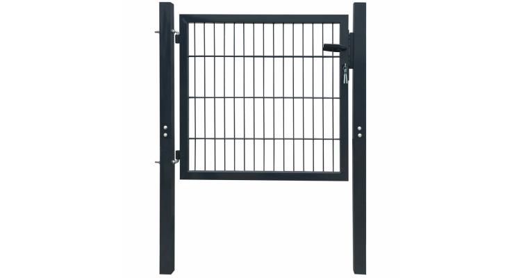 Poarta 2D pentru gard (simpla) 106 x 130 cm, gri antracit imagine 2021 kivi.ro