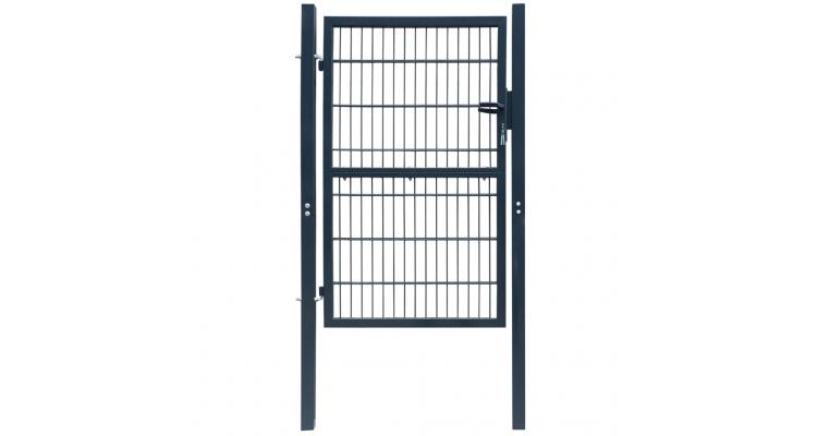 Poarta 2D pentru gard (simpla) 106 x 170 cm, gri antracit
