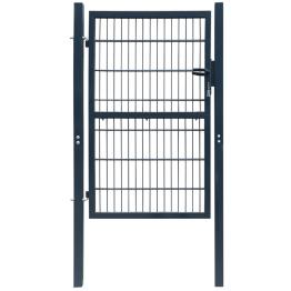 Poarta 2D pentru gard (simpla) 106 x 190 cm, gri antracit