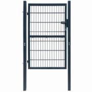 Poarta 2D pentru gard (simpla) 106 x 210 cm, gri antracit