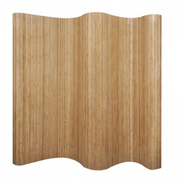 Paravan de cameră din bambus, culoare naturală, 250 x 195 cm poza kivi.ro