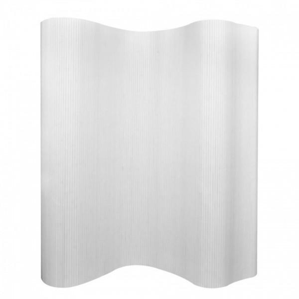 Paravan de camera din bambus, alb, 250 x 195 cm, poza kivi.ro