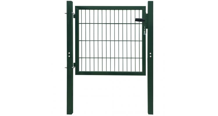 Poarta 2D pentru gard (simpla) 106 x 130 cm, verde imagine 2021 kivi.ro
