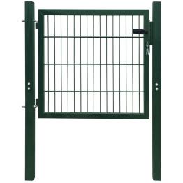 Poarta pentru gard din otel, 106 x 150 cm, verde