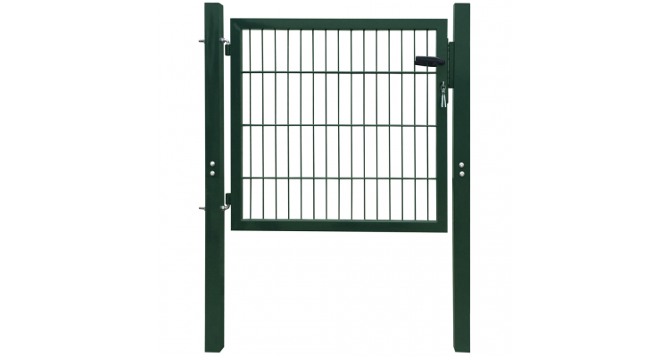 Poarta pentru gard din otel, 106 x 150 cm, verde imagine 2021 kivi.ro