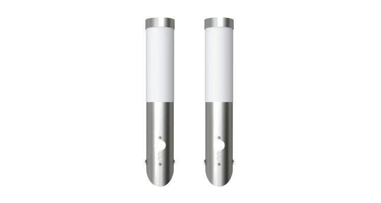 Lampa de exterior din otel inoxidabil cu senzor de miscare 2 buc