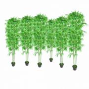 Set 6 decoratiuni plante bambus artificiale