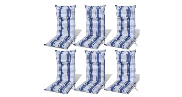 Perna scaun de gradina, grosime 8 cm, albastru, 6 buc.
