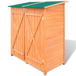 Magazie din lemn pentru unelte de gradina, 138 x 65,5 x 160 cm