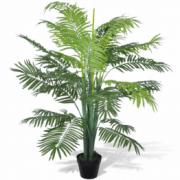 Palmier Phoenix artificial cu aspect natural si ghiveci, 130 cm