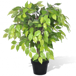Ficus pitic artificial cu aspect natural si ghiveci, 60 cm