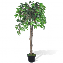 Ficus artificial cu aspect natural si ghiveci, 110 cm