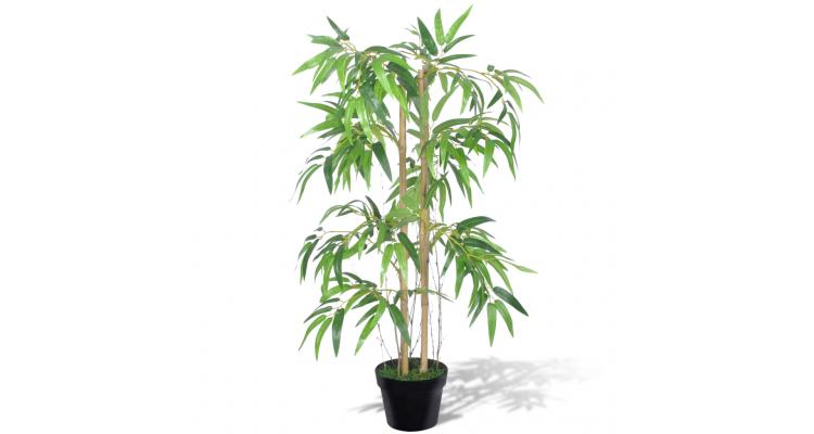 """Planta artificiala de bambus """"""""Twiggy"""""""" cu ghiveci 90 cm"""