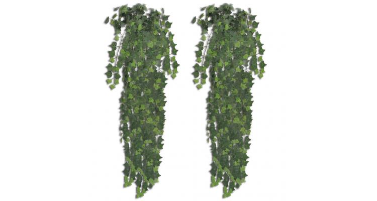 Iedera verde artificiala, 2 tufe, 90 cm