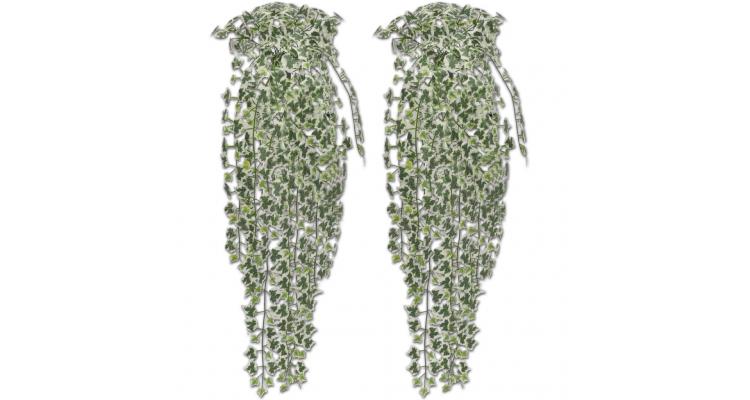 Tufis de iedera artificiala pestrita, 2 buc, 90 cm