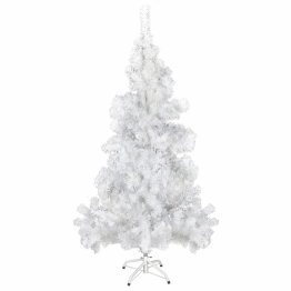 Brad de Craciun artificial cu stativ din plastic 150 cm 380 ramuri