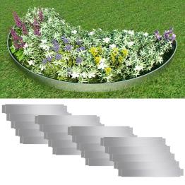 Set 20 separatoare flexibile peluza otel galvanizat 100 x 15 cm