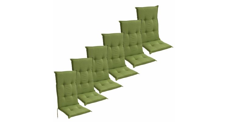 Perne pentru sezut 117x49 cm, Verde, 2 buc.