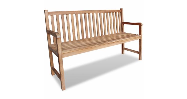 Banca de gradina din lemn de tec, 150 x 52 x 92,5 cm