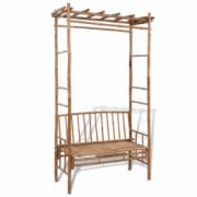 Banca din lemn de bambus cu pergola