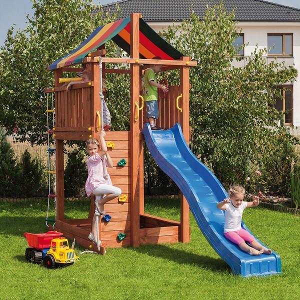 Spatiu de joaca din lemn Turn Fungoo Paradise, 150cm x 130cm poza kivi.ro