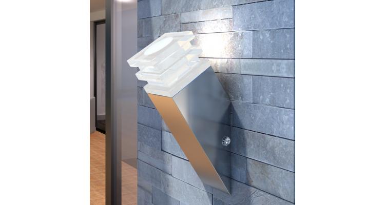 Lampa de perete din otel inoxidabil 12 LEDuri