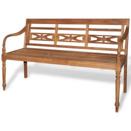 Batavia Banca din lemn de tec cu 3 locuri, 150 cm