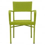 Scaun suprapozabil NEELY 57x55.5x89 cm verde