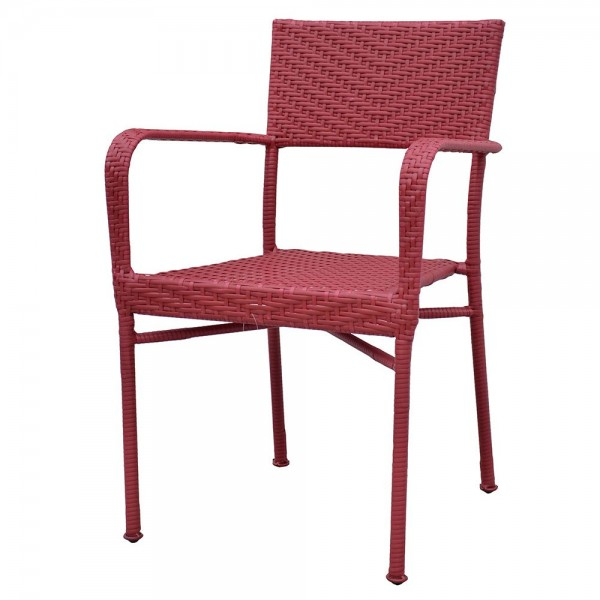 Scaun suprapozabil NEELY .57x55.5x89 cm rosu