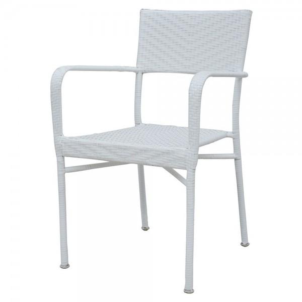 Scaun suprapozabil NEELY 57x55.5x89 cm alb