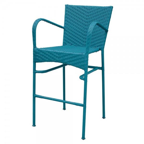 Scaun bar NEELY 57x58x111.5 cm albastru