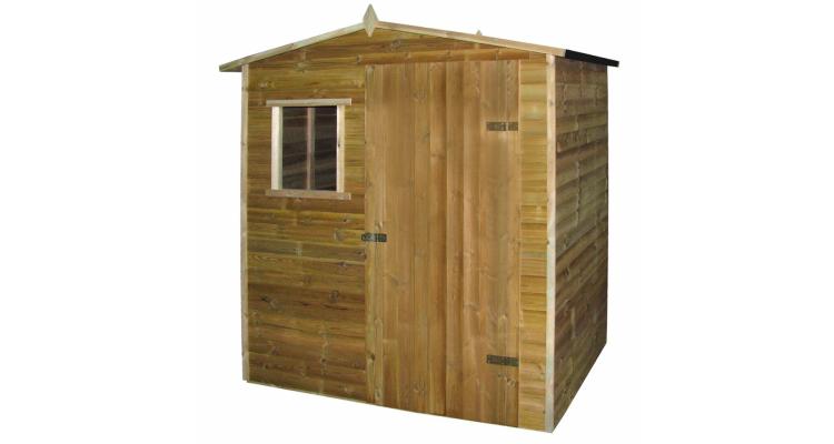 Cabana casa de gradina tip sopron, lemn de pin tratat, 1,5x2 m