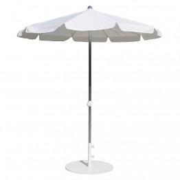 Umbrela rotunda MIAMI, 200 cm , argintiu/alb