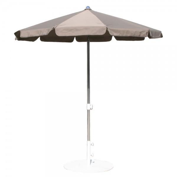 Umbrela rotunda MIAMI, 200cm ,  argintiu/gri