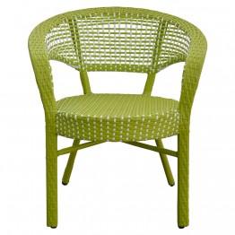 Scaun suprapozabil ISABELLE 66x71x76 cm verde/alb