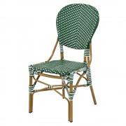 Scaun FRENCH 46x60x95 natur,verde-alb
