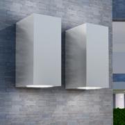 Corpuri de iluminat LED pentru peretele exterior 2 buc patrate