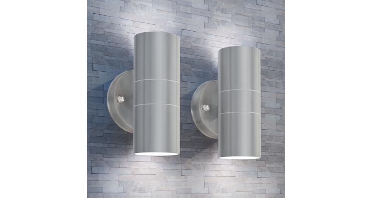 Corpuri de iluminat LED pentru peretele exterior 2 buc. imagine 2021 kivi.ro