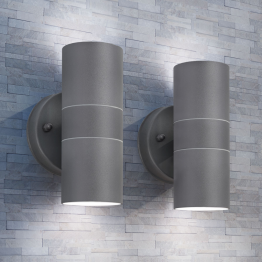 Corpuri de iluminat LED pentru peretele exterior 2 buc.