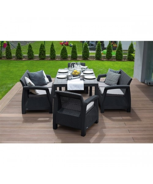 Set Mobilier Gradina Grafit Gri Imagine