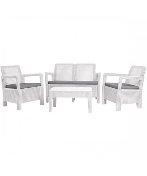 Set mobilier de gradina tarifa lounge - Canapea+Masuta+DOUA SCAUNE ALB/ GRI- RECE imagine 2021 kivi.ro