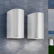 Corpuri de iluminat sus/jos pentru perete exterior, 2 buc.