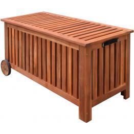 Lada depozitare exterior din lemn pentru perne 118x52x58 cm